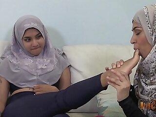 Slutty Desi Hijabis having lesbian fun 76