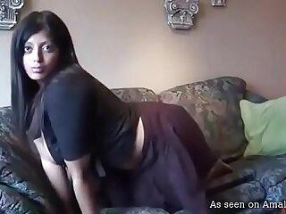Hot Desi helter-skelter Successful boobs masturbates 10