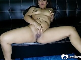 In compensation her husband was not around, the hot Asian mom fingered himself passionately.